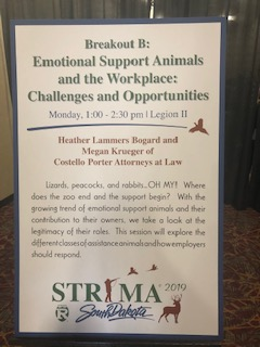 Emotional Support Animals Sign